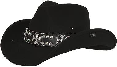 Peter Grimm Ltd Women's Garland Felt Cowgirl Hat Black One Size