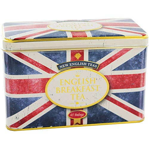 New English Teas - English Breakfast Tea 40 Tea Bags - Union Jack Vintage Tin