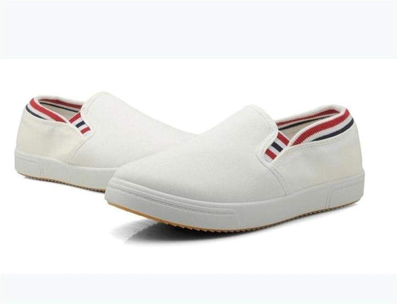 FidgetFidget Fashion Womens Casual Slip On Loafers Athletic Flats Sneaker Canvas Sports shoes WhitUS5=UK3=AU4=EUR36 White
