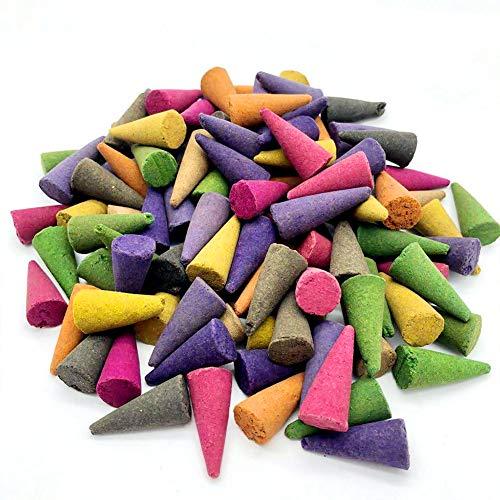 szlsl88 Conos de Incienso 100 Unidades Office Magnolia Fresh Air Assorted Casa Lavendel Mixed Scents...