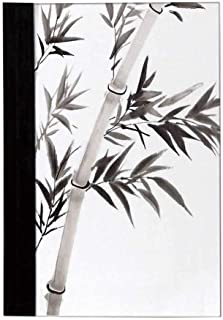 Bamboo House Decor Economic Notebook,Traditional Bamboo Leaves Meaning Wisdom Growth Renewal Unleash Your Power Artprint Notes,10