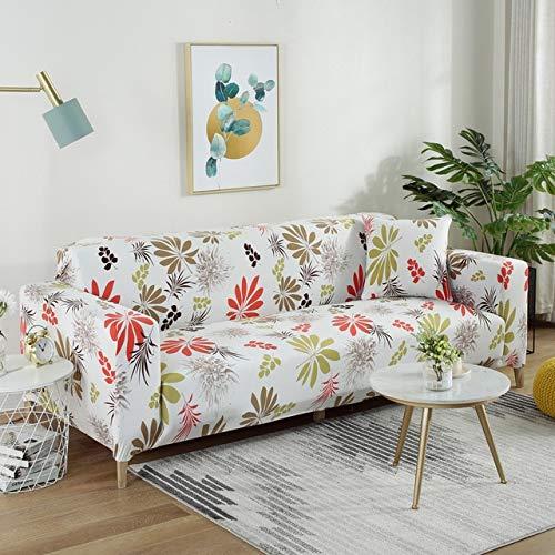 ADSIKOOJF Universele Sofa Cover All-inclusive Stofdichte Stoelhoezen Elastische Print Sofas Handdoek Enkel/Twee/Drie/Vier-zits Thuis Slipcover