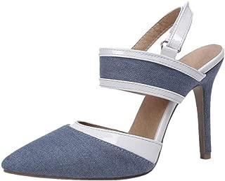 MisaKinsa Women Fashion Stiletto Sandals Velcro Strap