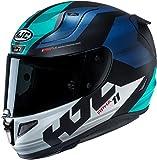 Motorcycle helmets HJC RPHA 11 NAXOS MC2SF, Noir/Bleu/Vert, XL