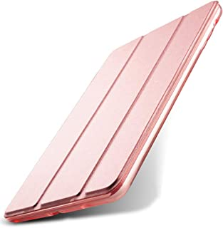 Kenke iPad Mini Case 7.9 inch Silicone Soft Cover Ultra Slim Lightweight Smart Case Folding Bracket with Auto Sleep/Wake for iPad Mini 1,Mini 2 Mini 3 (Rose Gold)