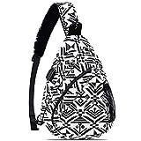 HOLYBIRD Sling Bag - Sling Backpack for Women & Men Multipurpose Crossbody Shoulder Bag with YKK metal zipper(white&black)