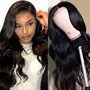 MDL Body Wave Lace Closure Human Hair Wig 30inch 4x4 Lace Closure Body Wave Human Hair Wigs Pre Plucked Unprocessed Remy Human Hair Lace Front Wigs With Baby Hair Natural Color