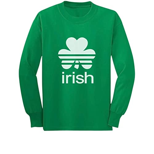 89cbaf106 TeeStars - Irish Shamrock St. Patrick's Day Long Sleeve Kids T-Shirt