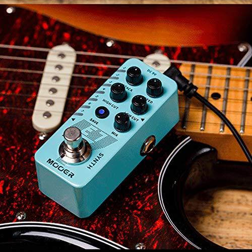 ETbotu Gitarreneffekt, E7 Effekte für E-Gitarre, 7 Sounds, poliphonischer Synthesizer, Gitarren-Pedal für Karptiker, Zubehör für Seilwerkzeug