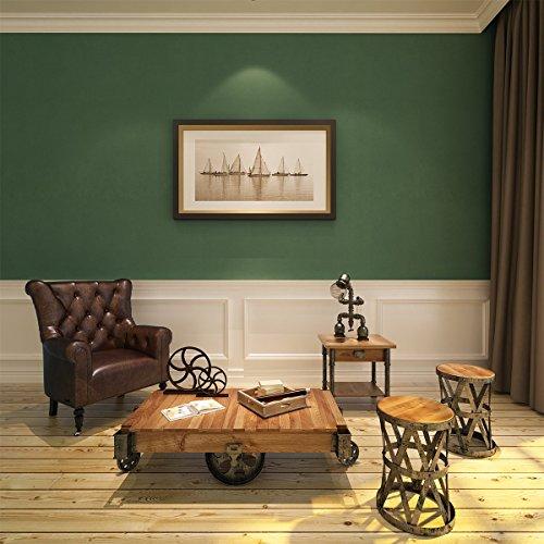 HANMERO Vintage Landhausstil Vlies-Tapetenrolle für TV-Hintergrund, Heimdekoration, Grün