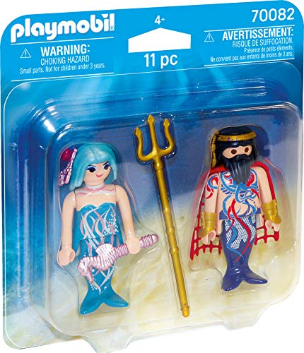 PLAYMOBIL- Duo Pack Playset de Figuras, Color carbón (70082