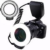 SAMTIAN RF-550D Anneau 48 LED Ultra Brillant et Légère LED Flash Annulaire avec Une...