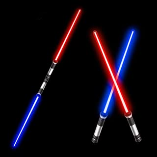"""Beyondtrade Laser Sword'S for Kids, Double Bladed Light Saber Toy with Sounds (Motion Sensitive) – 7 Colors - 26"""""""" – Perfect for Party – Xmas Presents (2 Pack)"""
