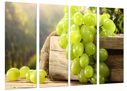 Muurschildering druiven, witte wijn, La Rioja, wijn, totale grootte: 131 x 62 cm, XXL