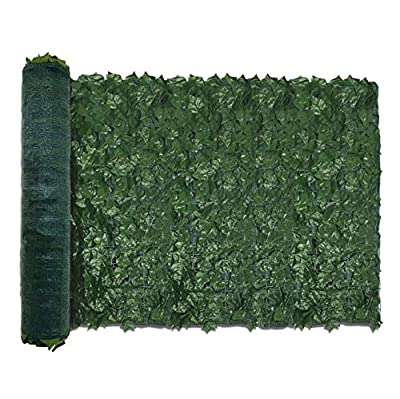 "TANG by Sunshades Depot 39"" x 117"" inch Artificial Faux Ivy Privacy Fence Screen Leaf Vine Decoration Panel with 130 GSM Mesh Back"