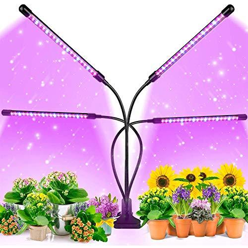 CALISTOUK - Lámpara de Planta, 80 LED Luz de la Planta Iluminación con Herramientas de Jardinería, 3 Modos de Lluminación, 9 Niveles Regulables, Rotación de 360°y Función de Temporizador(40W)