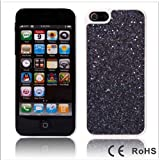 sleek and stylish classic black sparkling glitter iphone case for iphone 5