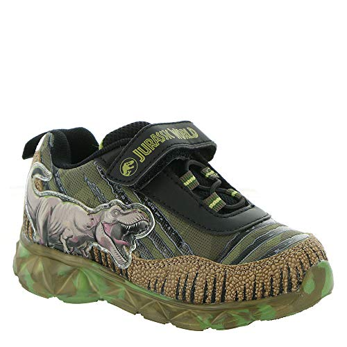 Favorite Characters Boy's Jurassic World Lighted Athletic JPF311 (Toddler/Little Kid) Green 9 Toddler M