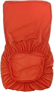 F Fityle Spandex Stretch Low Short Back Chair Slipcover Bar Stool Covers - 16 Colors Available - Orange