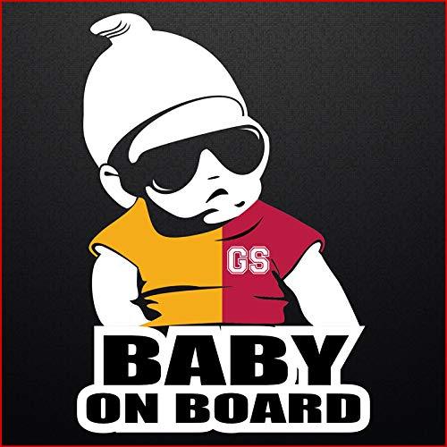 Autoaufkleber Baby On Board Galatasaray Cimbom Istanbul Sticker Wandtattoo 20x14cm