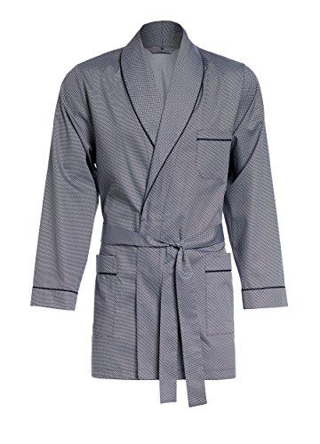 Revise Vestaglia da Uomo - Corta - Accappatoio RE-509 - Elegante - 100% Cotone – Argento XXXL