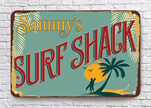 VictorJoan Surf Shack Schilder, Vintage Surf Shack Zeichen, Surf Shack, Surfen Schilder, Surf Decor, Surfen Decor, Surf Art, 40,6x 30,5cm Metall blechschild.