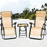 Best Beach Lounge Chairs - Mecor 3PC Zero Gravity Lounge Chairs Beach Chairs Review