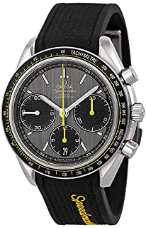 Omega Speedmaster Racing Grey Dial Black Rubber Mens Watch 32632405006001