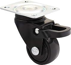 Montageplatte und Schrauben Keine Bodenbel/äge QC-OLYM22P 4 M/öbelrollen 2 mit Bremse und 2 ohne Bremse inkl Leise Kugellager