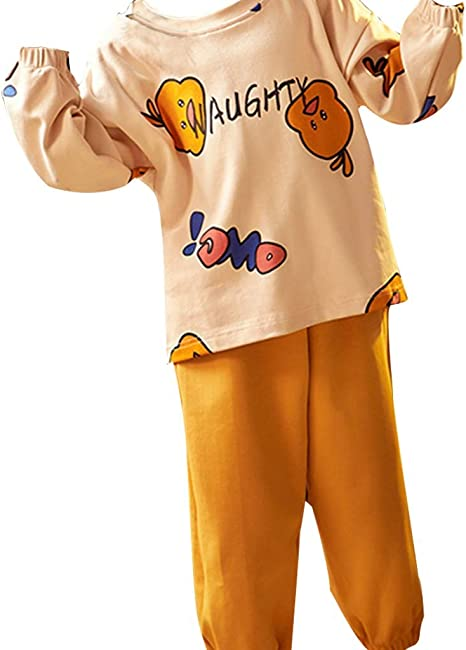 qazxsw Pijamas para niñas Pijamas de algodón de otoño Ropa de ...