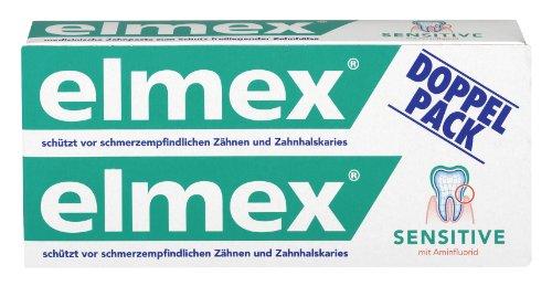elmex SENSITIVE Zahnpasta Doppelpack, 2 x 75 ml