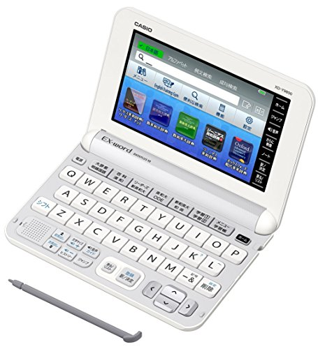 Casio electronic dictionary Data Plus 6 practice English model XD-Y9800WE white content 170