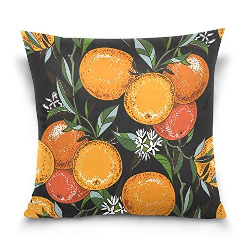 HMZXZ Funda de almohada decorativa de 50,8 x 50,8 cm, diseño vintage, color naranja