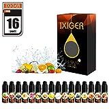 IXIGER E-líquido para Cigarrillo Electrónico 16X10ml Líquido Cigarrillo Electrónico E-shisha E-cigarrillo sin Nicotina ni Tabaco