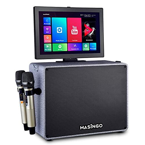 Karaoke Machine with Lyrics Display Screen for Adults and Kids - Bluetooth Portable Singing PA...