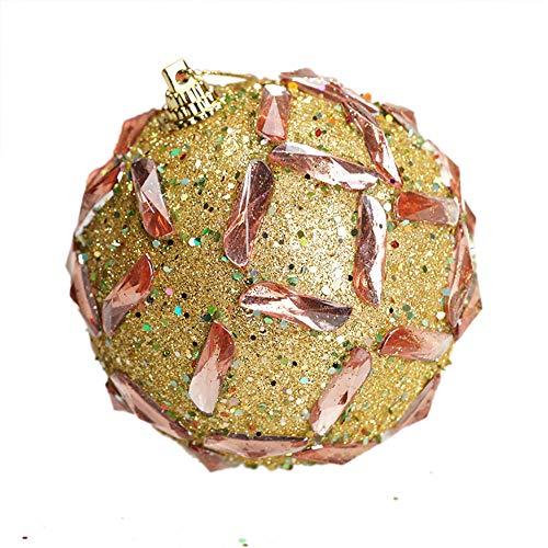 ODJOY-FAN Hochgradige Weihnachtskugeln Weihnachten Strass Funkeln Kugeln Bälle Weihnachtenbaum Ornament Dekoration Ball 8CM(B-2,1 PC)