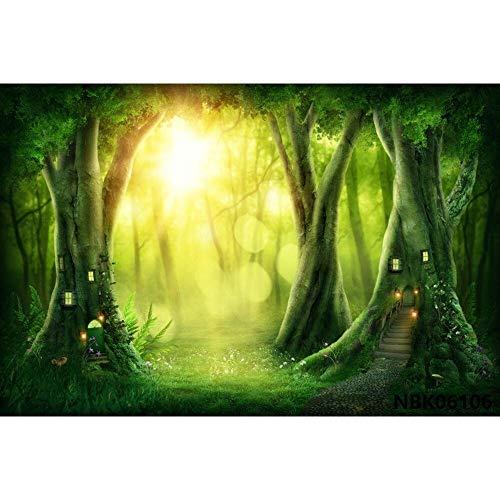 Cuento de Hadas País de Las Maravillas Bosque de ensueño Selva Naturaleza Paisaje Primavera Telón de Fondo Fotografía Fondo para Estudio fotográfico A25 9x6ft / 2.7x1.8m