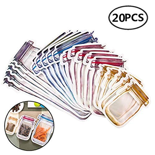 New Year Offer Sale 12pcs HAZUN 0pcs Reusable Mason Bottle Ziplock Bag