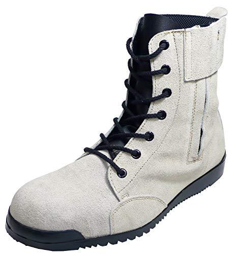[ノサックス] みやじま鳶安全靴 踏み抜き防止鉄板入 JIS規格品 八分丈 Nosacks (27.0cm, 月白(シルバーグレー))