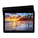 Android 8.1 Tablet 10 Zoll Dual-SIM 64 GB Speicher Full HD IPS Touchscreen Dual Kamera 2MP und 5MP, Speicher Octa Core CPU, WLAN / Bluetooth (Metall schwarz)