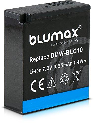Blumax Akku für Panasonic DMW-BLG10 BLG10e 1025mAh 7,2V 7.4Wh - kompatibel mit Panasonic Lumix DC TZ91 DMC TZ101 TZ81 GF6 GX7 GX80 LX100 S6