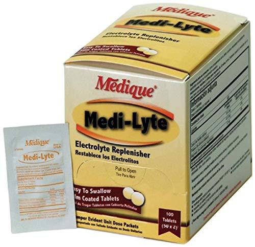 Price comparison product image Medique 03033 Medi-Lyte Electrolyte Tablets w / Potassium Chloride for Cramps,  100-Tablets