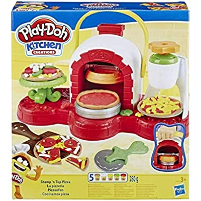 Cheap Play Doh Stamp N Top Pizza Oven Toy With 5 Non