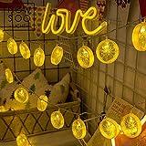 XLWWLG Rodaja De Limón Led String, Habitación, Decoración De Dormitorio Navidad Halloween Set @ Yellow Lemon [Modelo Usb] _10 Metros 80 Luces