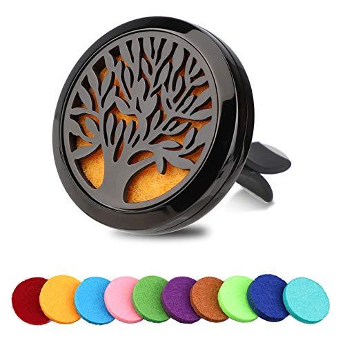 OOTSR Diffusore di Oli Essenziali per Aromaterapia per Auto, Aromaterapia Diffusore Clip, Deodorante Vent locket per Auto, con 10pcs Colore Casuale Feltro di Ricambio