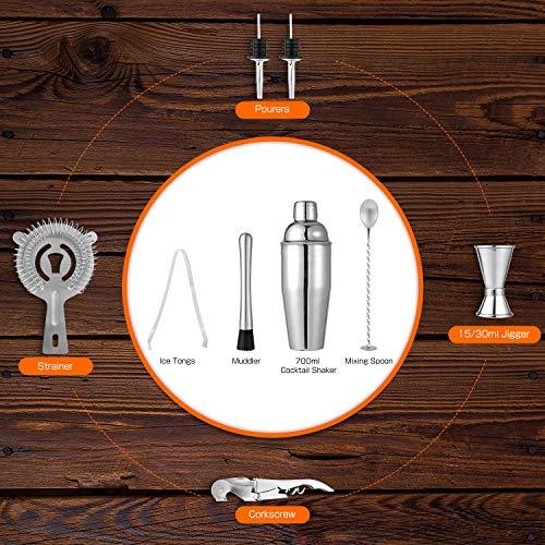 Hochwertiges Cocktailmixer Set, 10 Teilig - 3