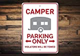 mengliangpu8190 12' x 18' Tin Sign, Metal Sign, Camper Gift Camper Parking Sign Camper Decor Camper Sign Camping Gift Camping Lover Gift Camping Sign Aluminum Sign