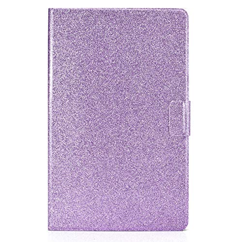 JIan Ying Case for Samsung Galaxy Tab A 10.5 SM-T590 SM-T595 colorful Lightweight Protective Cover Purple glitter