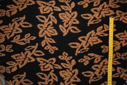 alles-meine.de GmbH 0,5 m * 1,55 m Strickwalk Fleece schwarz braun Muster Walk FilzStoff Strick