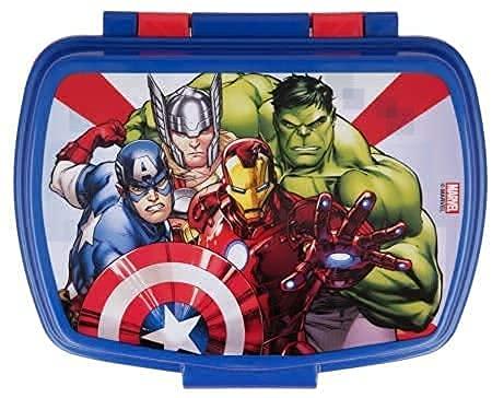 ILS I LOVE SHOPPING Contenitore Termico Porta merenda Scatola Sandwich Box per Bambini Marvel Avengers Marvel Supereroi